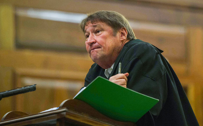 FILE: Advocate Kemp J Kemp representing Jacob Zuma at the spy tape case at the Supreme Court of Appeal in Bloemfontein on 14 September 2017. Picture: Mujahid Safodien/AFP