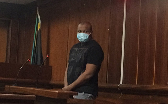 Accused number one in the Andile Mbuthu kidnapping and murder case, Mlungisi Thabethe (28), appears in the Verulam Magistrates Court on 3 June 2020 in a bid to secure bail. Picture: Nkosikhona Duma/EWN