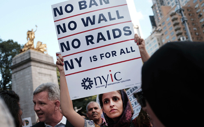 FILE: Hundreds of immigration advocates and supporters attend a rally and march to Trump Tower in support of the Deferred Action for Childhood Arrivals programme also known as DACA on 30 August 2017 in New York City. Picture: AFP.