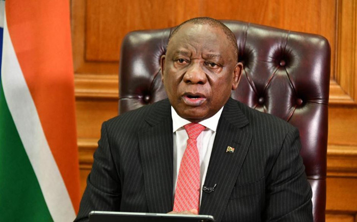 FILE: President Cyril Ramaphosa addresses the nation. Picture: GCIS