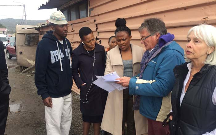 Public Protector Busisiwe Mkhwebane is in Masiphumelele to address complaints regarding the state of the area on Friday 23 June 2017. Picture: Monique Mortlock/EWN