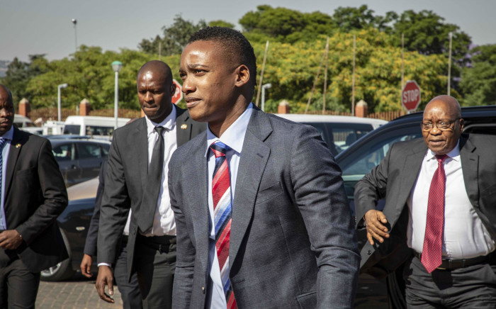 FILE: Duduzane Zuma arrives for his court appearance at Randburg Magistrates Court along with his father Jacob on 26 October 2018. Picture: Thomas Holder/EWN