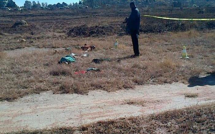 Eight suspected illegal miners were found shot dead execution style at an abandoned mine in Benoni on 21 June. Picture: Twitter.