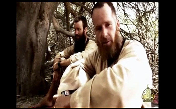 South African Stephen McGowan and Swede Johan Gustofsson in a video released in June 2015.