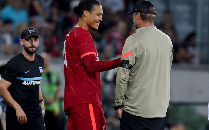 Liverpool defender Virgil van Dijk makes his return to action after nine months out in a friendly match against Hertha Berlin on 29 July 2021. Picture: @LFC/Twitter