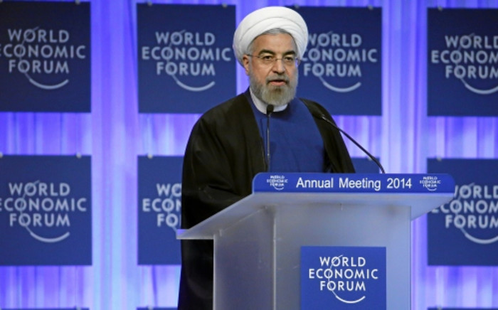Iranian President Hassan Rouhani speaks at the World Economic Forum in Davos on 23 January 2014. Picture: World Economic Forum.