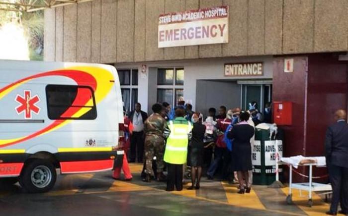 Survivors of the Lagos building collapse arrive at the Steve Biko Academic Hospital in Pretoria on 22 September, 2014. Picture: Barry Bateman/EWN.