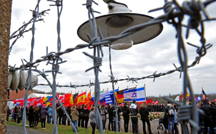 Survivors of the Buchenwald concentration camp, relatives and US veterans take part in celebrations marking the 67th anniversary of the liberation of the Buchenwald Nazi concentration camp outside Weimar, eastern Germany, 15 April, 2012. Picture: AFP.