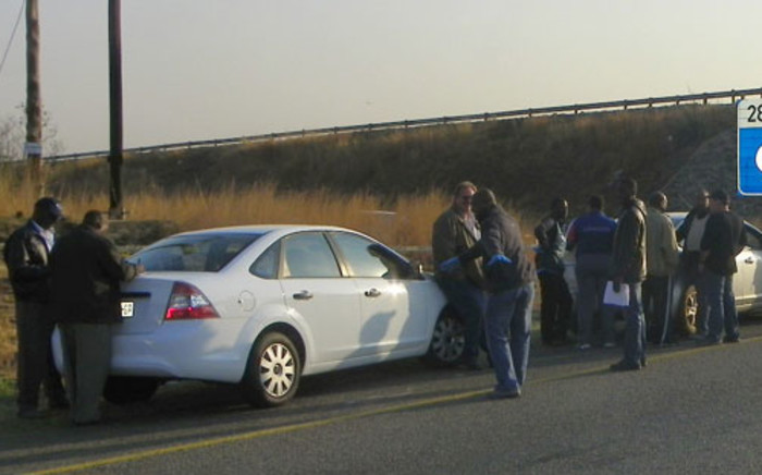 Suspects arrested in connection with a shooting and robbery in Muldersdrift on 13 September 2012. Picture: Shenan Cochrane.