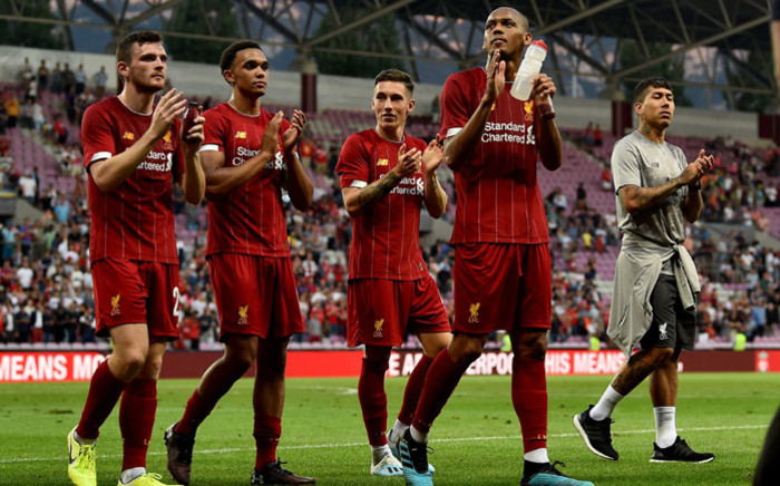 Liverpool players applaud the crowd after their pre-season friendly win over Lyon on 31 July 2019. Picture: @LFC/Twitter