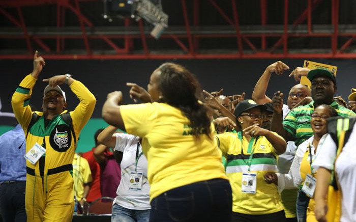 ANC delegates celebrate after the announcement of the ANC's new top 6 on 18 December 2017. Picture: Sethembiso Zulu/EWN