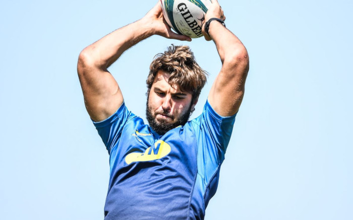 Springboks training has been suspended following a positive COVID test by Lood de Jager. Picture: @Springboks/Twitter.