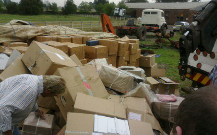 Police confiscated over R20 million worth of stolen goods from a warehouse in Benoni on 10 November 2014. Picture: Supplied.