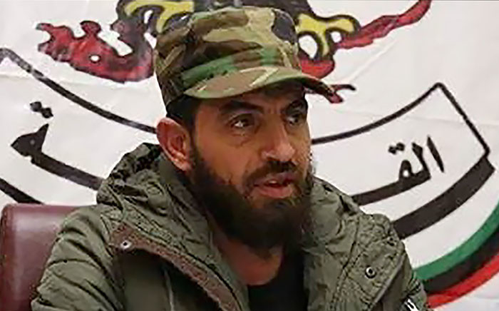 This undated and unlocated picture released on 15 August 2017 by the International Criminal Court shows Mahmoud Mustafa Busayf Al-Werfalli, a senior Libyan military commander suspected of involvement in the deaths of 33 people in the war-torn city of Benghazi. Picture: AFP