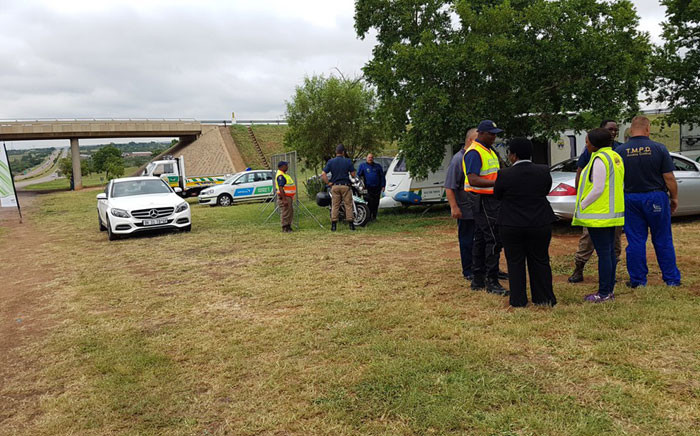Festive road safety operation underway at N1 and Carousel plaza. Picture: @TMPDSafety.