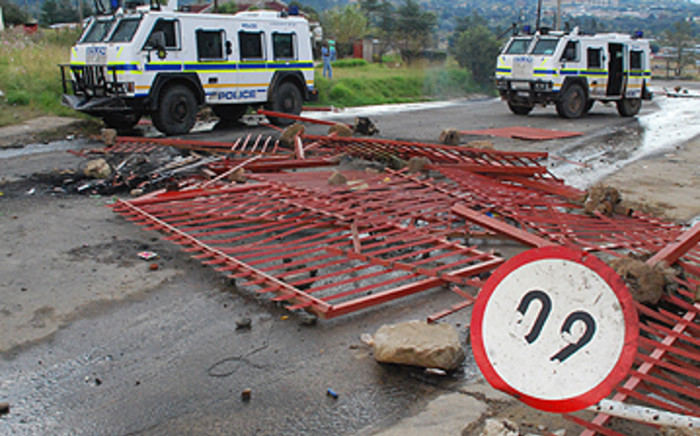 The after effects of service delivery protests in Fickburg in 2011.