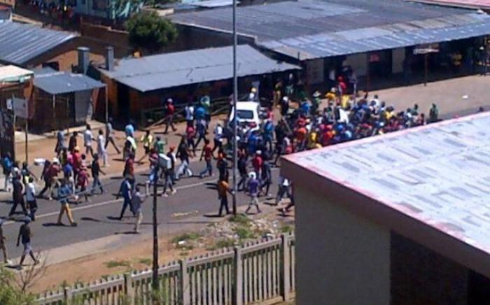 FILE: TUT's Soshanguve campus students strike over lack of funds on 5 february 2014. Picture: Twitter - Wonder Zindela @WZindela.