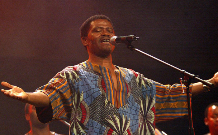 FILE: Joseph Shabalala, the legendary founder of Ladysmith Black Mambazo, at a show in Johannesburg on 1 August 2002. Picture: AFP
