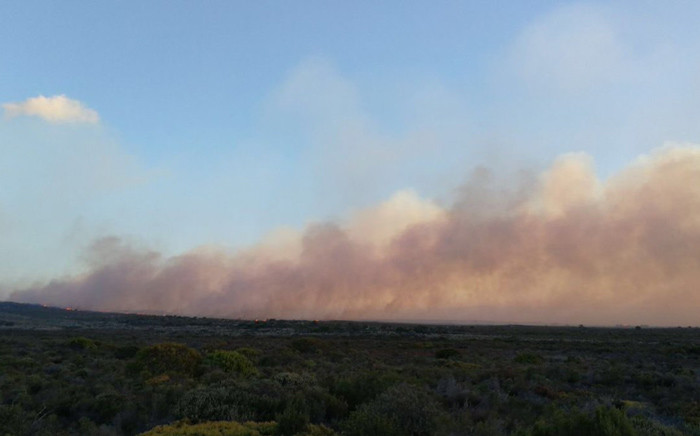 FILE: A view of smoke from the fire that broke out in the Cape Point Nature Reserve. Picture: @vwsfires/Twitter.