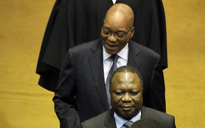 President Jacob Zuma walks into Parliament ahead of his State of the Nation Address. Picture: Parliament of RSA