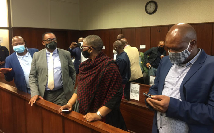 Former eThekwini Mayor Zandile Gumede (centre) and and some of her co-accused appear in the Durban Commercial Crimes Court on 10 September 2020 on charges relating to corruption. Picture: Nkosikhona Duma/EWN