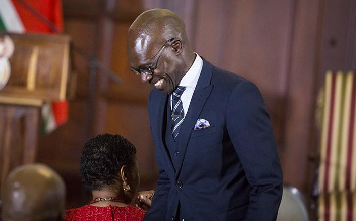 Finance Minister Malusi Gigaba smiles ahead of the swearing in ceremony of President Jacob Zuma's new cabinet in Pretoria on 31 March 2017. Picture: EWN