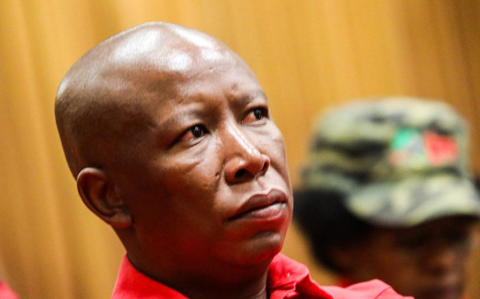 EFF leader Julius Malema sits in the High Court in Pretoria on 4 July 2019. Picture: Kayleen Morgan/EWN.