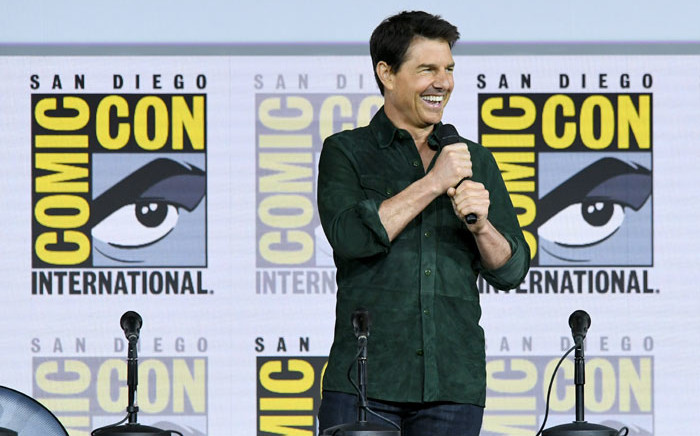 """Tom Cruise makes a surprise appearance to discuss """"Top Gun: Maverick"""" during 2019 Comic-Con International at San Diego Convention Center on 18 July 2019 in San Diego, California. Picture: AFP"""