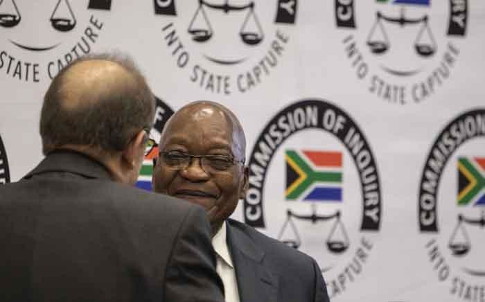 Former President Jacob Zuma at the state capture commission on 16 July 2019. Picture: Abigail Javier/EWN