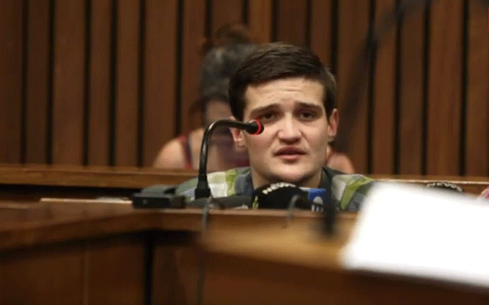 Nicholas Ninow testifying in the mitigation of sentence in the High Court in Pretoria on 16 October 2019. Picture: EWN.