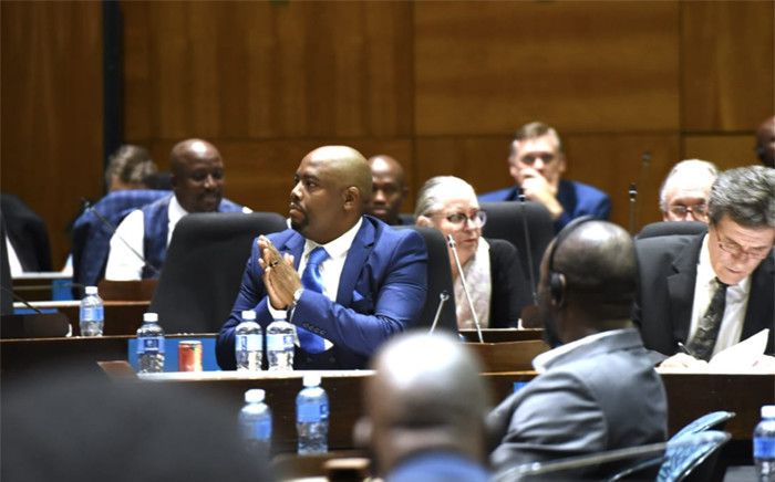 FILE: Stevens Mokgalapa celebrated following his election as executive mayor on 12 February 2019. He was ousted on 5 December 2019 through a motion of no confidence. Picture: DA