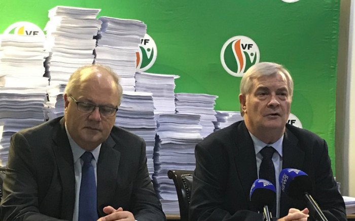 The Freedom Front Plus has collected 101,060 petitions against the expropriation of land without compensation. These are to be submitted to Parliament's Constitutional Review Committee. Picture: Lindsay Dentlinger/EWN