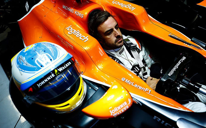 McLaren driver Fernando Alonso waits to head onto the track. Picture: @McLarenF1/Twitter