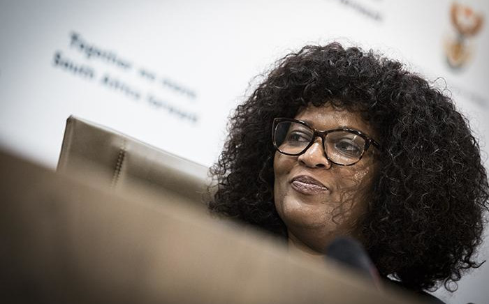 FILE: Yolisa Matakata addressing the media at the Tshedimosetso House on 23 February 2018 in Pretoria. Picture: Sethembiso Zulu/EWN