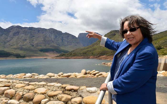 FILE: Cape Town Mayor Patricia de Lille visiting Wemmershoek Dam. Picture: Facebook.com.
