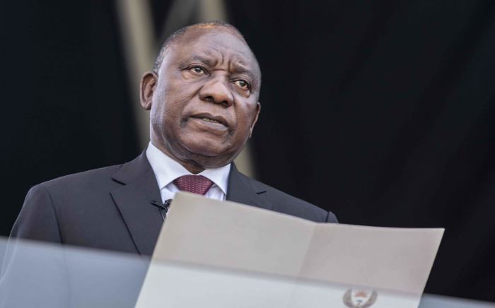 Cyril Ramaphosa takes the oath of office as the President of the Republic of South Africa at Loftus Versfeld Stadium in Pretoria on 25 May 2019. Picture: Abigail Javier/EWN.