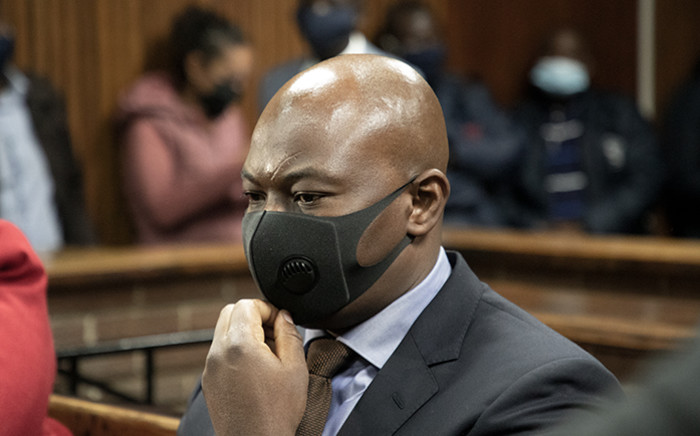 Edwin Sodi is the director of Blackhead Consulting, the company at the centre of the asbestos scandal, appeared in the Bloemfontein Magistrates Court on 2 October 2020, along with six others. The seven accused, who face around 60 charges, are alleged to have fraudulently been awarded a R255 million contract to audit and remove asbestos roofs in the Free State. Picture: Xanderleigh Dookey/EWN
