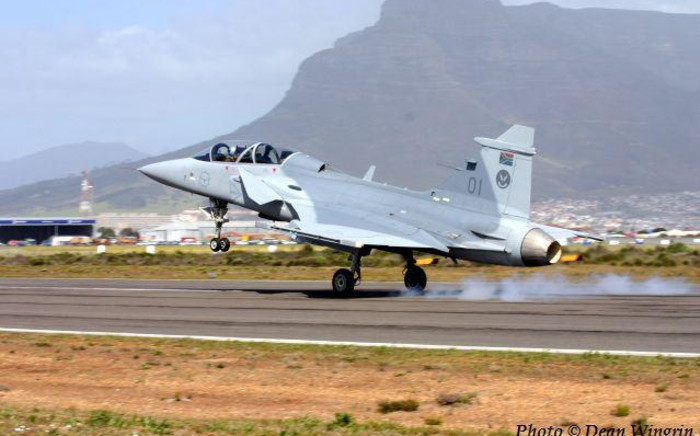 FILE. A Gripen fighter jet, acquired in the arms deal.