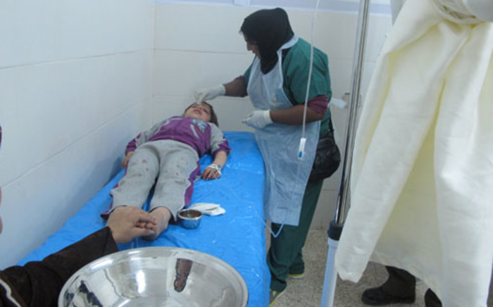 A child wounded in an attack in Syria. Picture: Rahima Essop/EWN.