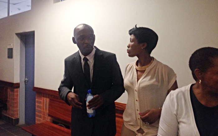 Murder accused, Donald Sebolai, standing outside court after judgment into his murder trial was postponed on 6 October 2015. Picture: Mia Lindeque/EWN.