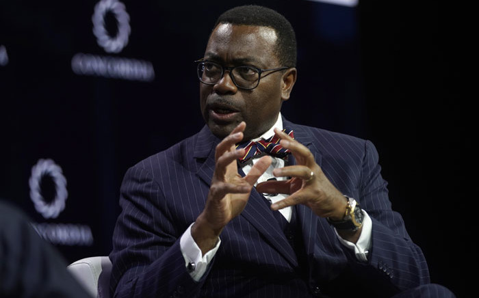 FILE: President of the African Development Bank Group Akinwumi Adesina speaks during the 2019 Concordia Annual Summit at Grand Hyatt New York on 24 September 2019 in New York City. Picture: AFP