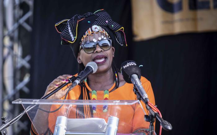 Cosatu president Zingiswa Losi at Cosatu's May Day rally at Sugar Ray Xulu stadium in Clermont, Durban. Picture: Abigail Javier/EWN