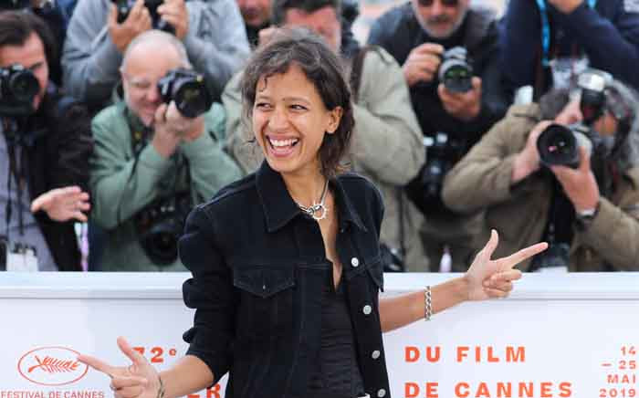 """French actress and film director Mati Diop poses during a photocall for the film """"Atlantics (Atlantique)"""" at the 72nd edition of the Cannes Film Festival in Cannes, southern France, on 17 May 2019. Picture: AFP"""