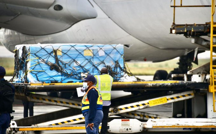 FILE: South Africa's second tranche of Johnson & Johnson COVID-19 vaccines has touched down at OR Tambo International Airport on Saturday, 27 February 2021. Picture: GCIS.