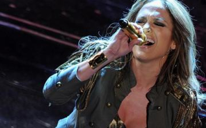 Singer and actress Jennifer Lopez doing what she does best. Picture: AFP