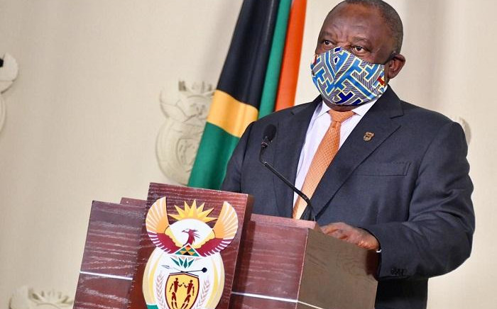 President Cyril Ramaphosa addressing the nation. Picture: GCIS