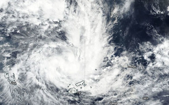 NASA-NOAA's Suomi NPP satellite passed over the Southern Pacific Ocean on 26 December and found Tropical Storm Sarai had developed near Fiji. Picture: NASA.
