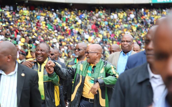 President Jacob Zuma (right) and Deputy President Cyril Ramaphosa (left). Picture: Christa Eybers/EWN