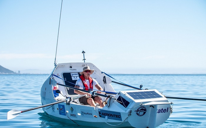 Zirk Botha's boat is made of foam and laminated with an epoxy coating that gives it a strong, waterproof surface. Picture: Supplied