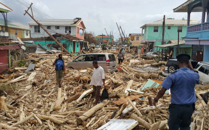 Damage caused by Hurricane Maria in Roseau, Dominica, on September 20, 2017. Picture: AFP